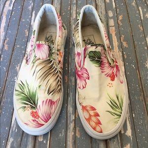 Vans-slip On Hawaiian flower 🌺